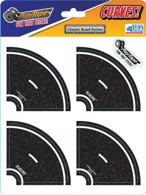 Asphalt Black Road Tape, 2 Inch Tight Curve  -