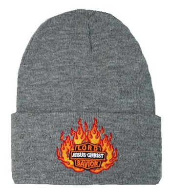 Lord Jesus Christ Savior Beanie, Grey  -