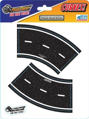 Asphalt Black Road Tape, 2 Inch Broad Curve  -
