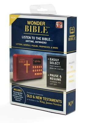 Wonder Bible - The Talking King James Bible - Audio Player  -