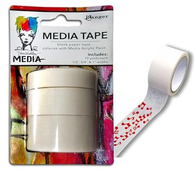 Washi Media Tape, 3 Widths  -