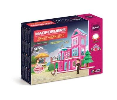 Magformers, Sweet House Set, 64 pieces  -