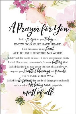 A Prayer for You I Said a Prayer for You Today Plaque  -
