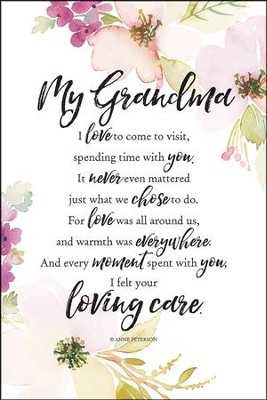 My Grandma I Love to Com eto Visit Plaque  -