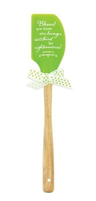 Blessed, Green Silicone Spatula  -