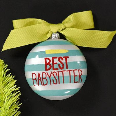 Best Babysitter Ornament  -