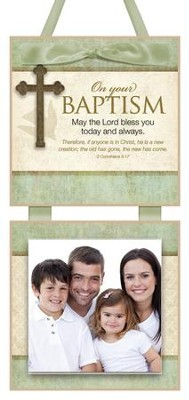 On Your Baptism Photo Plaque  -