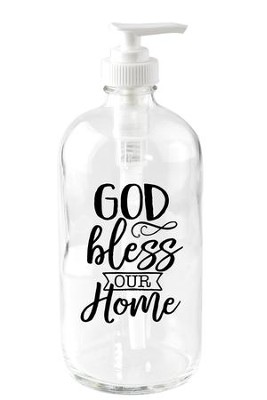 God Bless Our Home Soap Dispenser  -