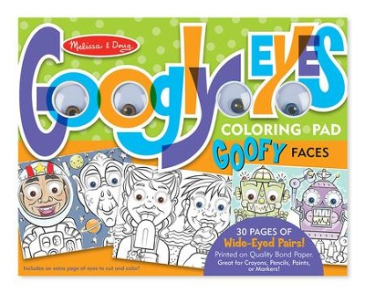 Wacky Faces, Googly Eyes Coloring Pad  -