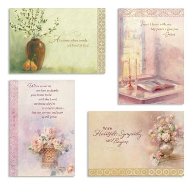 Comfort and Peace Sympathy Cards, Box of 12  -
