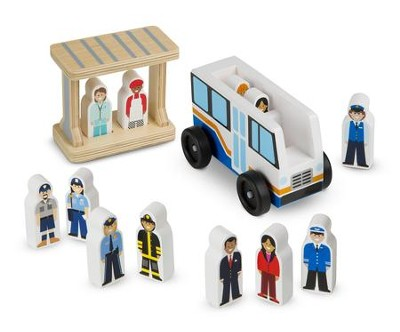 Off to Work Bus Set  -