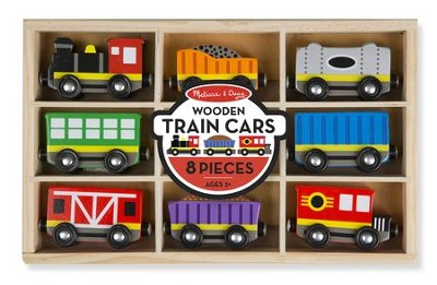 Wooden Train Cars  -