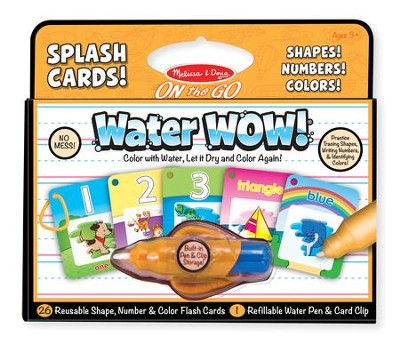 Water Wow! Splash Cards Shapes, Numbers and Colors  -