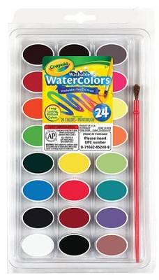 Crayola, Washable Watercolors, 24 Pieces  -