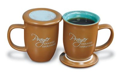 Prayer Changes Everything--Ceramic Mug with Coaster   -
