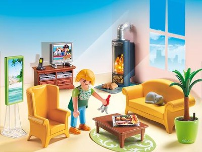 Playmobil Living Room with Fireplace Accessory  -