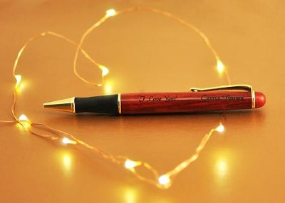 Personalized, Wooden Pen with Name and Message   -