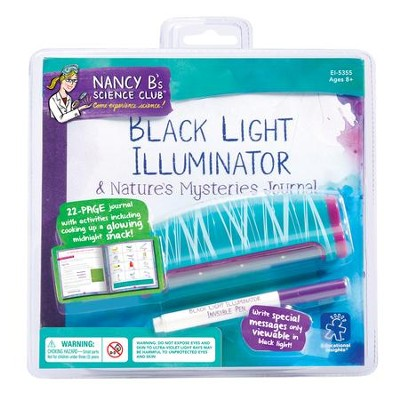 Nancy B's Science Club, Black Light Illuminator & Nature's Mysteries Journal  -