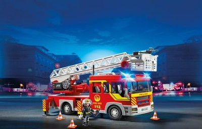 PLAYMOBIL ® Ladder Unit with Lights and Sounds Playset   -