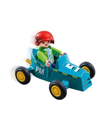 PlayMobil Boy with Go-Kart  -