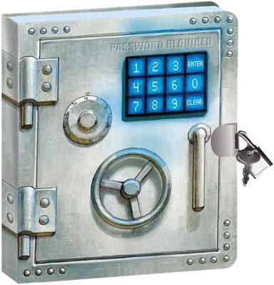 Password Required Vault, Lock and Key Diary  -