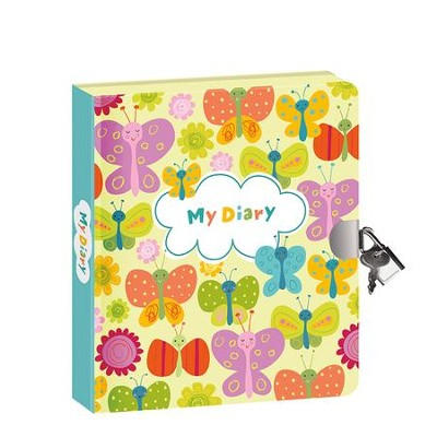 Butterflies, Glow In the Dark Diary  -