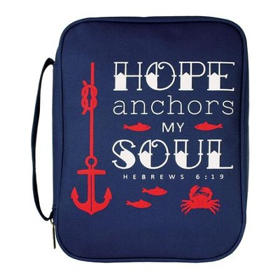 Hope Anchors My Soul Bible Cover, Large  -