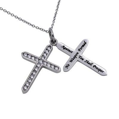 No Weapon, Twin Cross Necklace   -