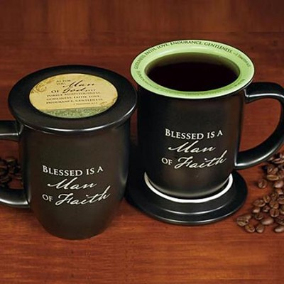 Blessed is a Man of Faith Mug and Coaster  -