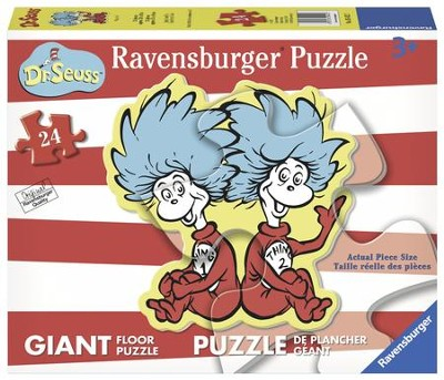 Thing 1 & Thing 2 Shaped Floor Puzzle, 24 Pieces  -