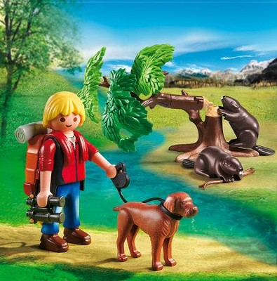 Playmobil Beavers with Backpacker Accessory  -