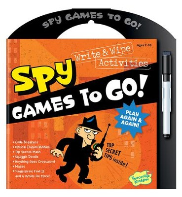 Spy Games To Go: Write and Wipe Activities  -