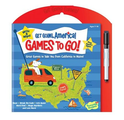 Get Going, America Games To Go: Write and Wipe Activities  -