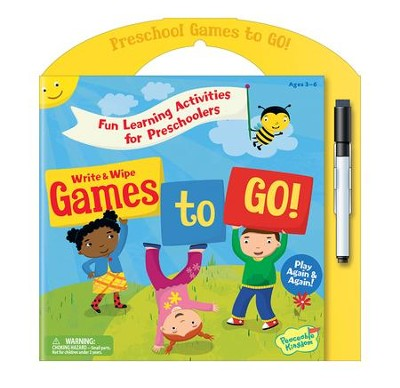 Preschool Games To Go: Write and Wipe Activities  -