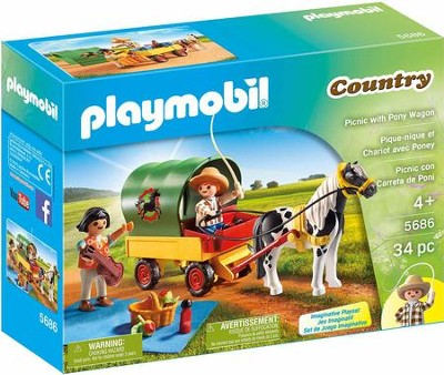 Playmobil Picnic With Pony Wagon Accessory  -