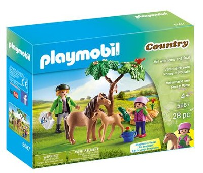 Playmobil Vet With Pony and Foal Accessory  -