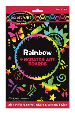 Rainbow Scratch Art Boards  -