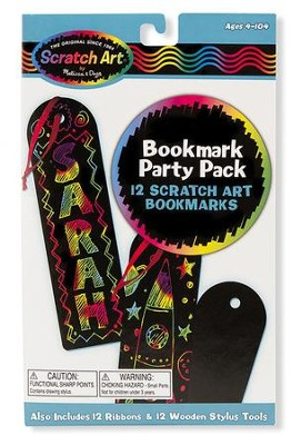 Scratch Art, Bookmark Scratch Art Party Pack  -