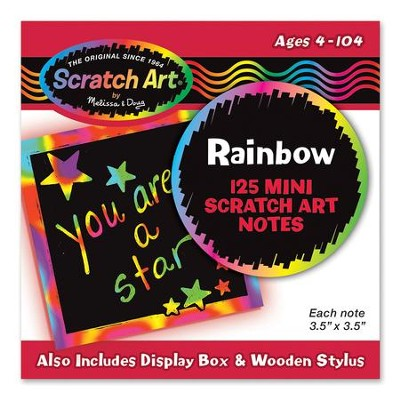 Rainbow Scratch Art Mini Notes, Box of 125  -