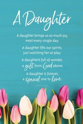 A Daughter Brings Us So Much Joy Plaque  -