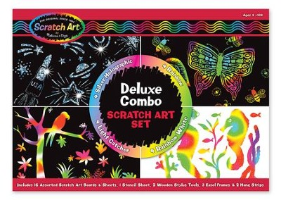Deluxe Combo Scratch Art Set  -