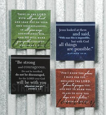 Inspirational Magnet Set, Trust, Faith, Strength, Journey  -