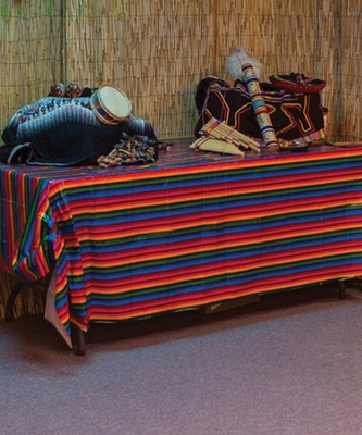 Passport to Peru VBS: Fiesta Table Cover (54 inches x 108 inches)  -