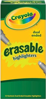 Crayola, Dual-End Erasable Highlighters, 12 Pieces  -
