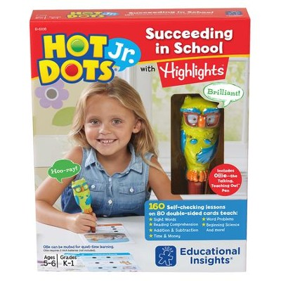 Hot Dots Jr. Succeeding in School Set with Highlights  -