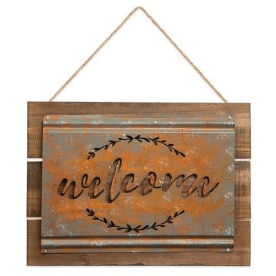 Welcome Acid Wash Sign  -