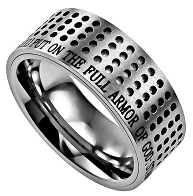 Armor of God, Sport Ring Silver, Size 9   -
