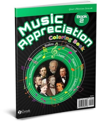 Music Appreciation: Book 2 for Middle Grades, Coloring Book  -