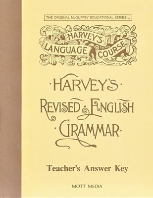 Harvey's Revised English Grammar Answer Key  -     By: Eric Wiggin