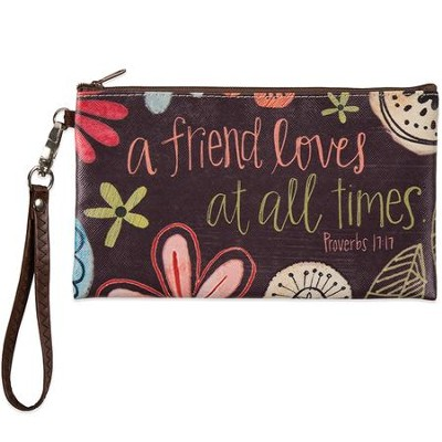 A Friend Loves At All Times Zippered Bag  -